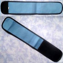 Plain Wrap Armband - Mid Blue & Black